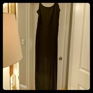 Aqua Bodycon long black dress